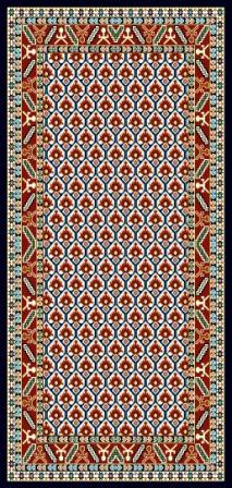 فرش گبه ٢.٢٥*١.٥ طرح  ١٠٧٥ سرمه ای