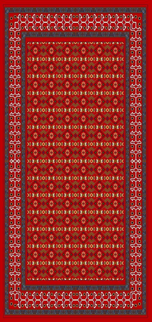 فرش گبه ١.٥*١ طرح  ٩٤٤ لاکی