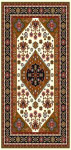 فرش گبه ١.٥*١ طرح  ٦٠١ مسی