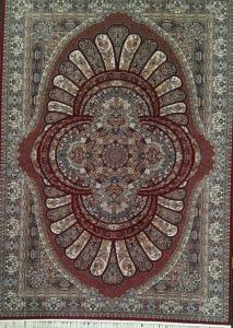 فرش ماشینی ٥٠٠ شانه طرح ٧٠٠ ٤*٣ رویال گلبهی فخر پایتخت درجه ١