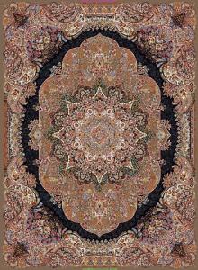 فرش ماشینی ٤*٣ نارسیس گردویی تراکم ٢١٠٠ درجه ١