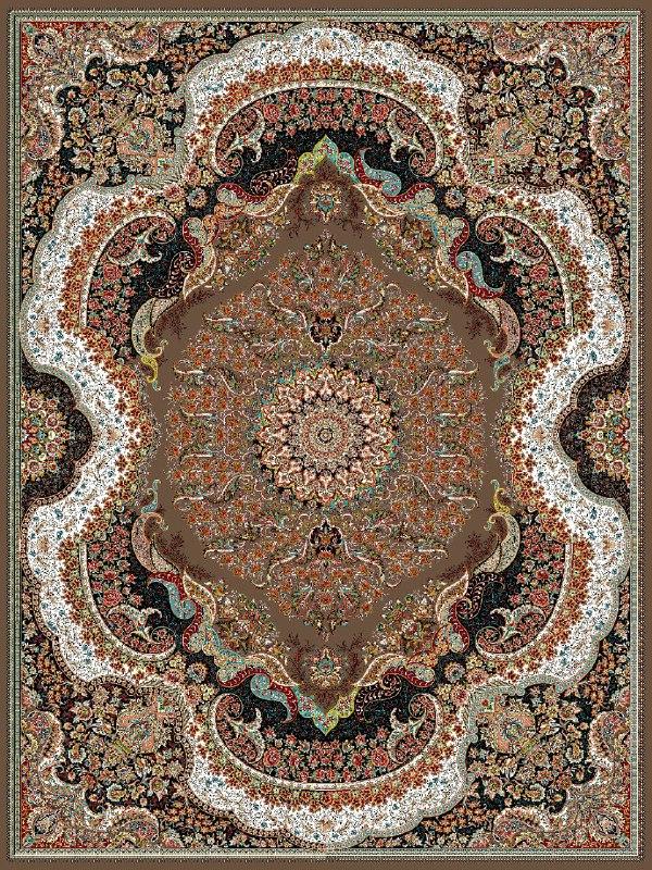 فرش ماشینی ٧٠٠ شانه ٤*٣ رهام گردویی تراکم ٢١٠٠