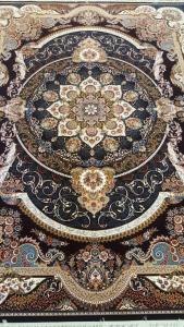 فرش ماشینی ٧٠٠ شانه تراکم ٢٥٥٠ ٤*٣ مانا سرمه ای شکوفه